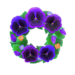Cool pansy wreath