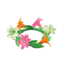Cute lily crown