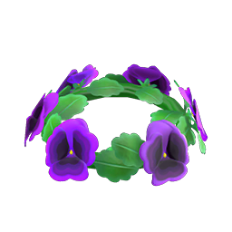 Purple pansy crown