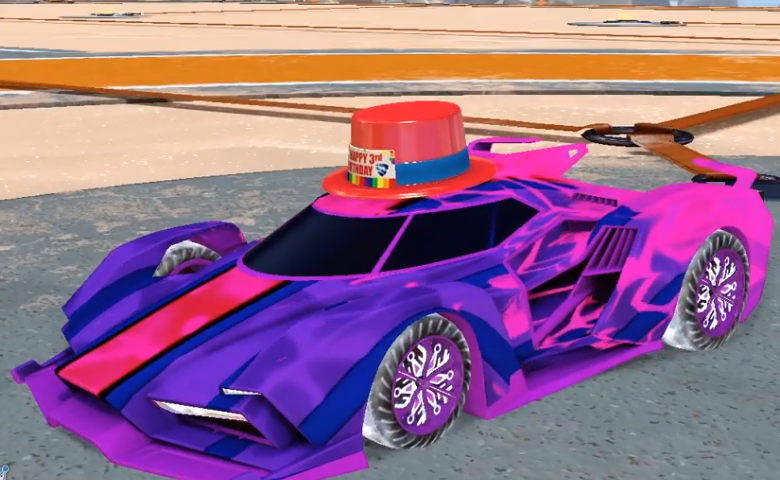 Rocket league Samurai Purple design with K2,Torrent,Spectre,Birthday Bash