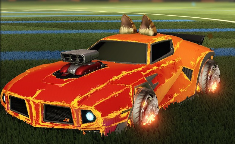 Rocket league Dominus GT Default Color design with Draco,Heatwave,Wildcat Ears,Standard