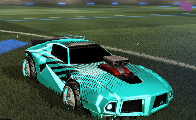 Rocket league Dominus GT design with Triplex,Cloudburst II,Sunburst,Jolt Bangle I,Lightspeed