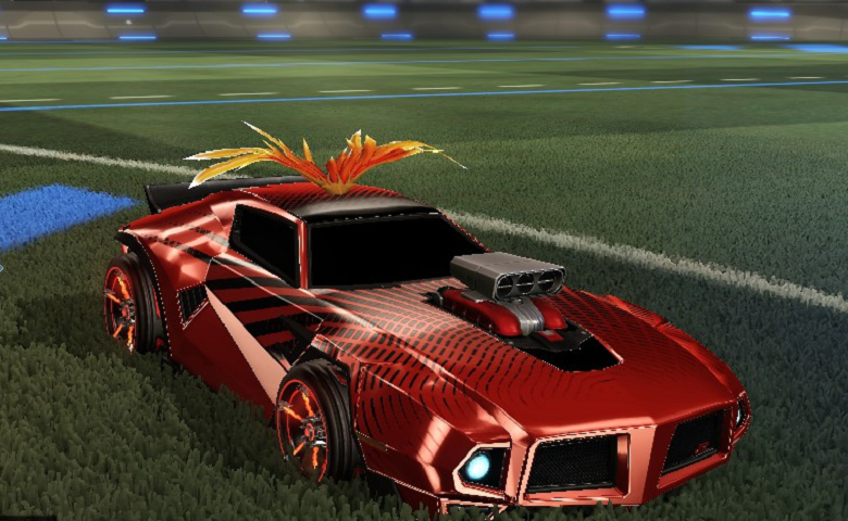 Rocket league Dominus GT design with FSL,Nitrous,Sunburst,Phoenix Wings I,Blazer