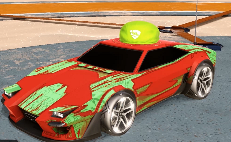 Rocket league Imperator DT5 design with Hikari P5,Toon Sketch,Skullcap,Ivy Cap,Zigzag