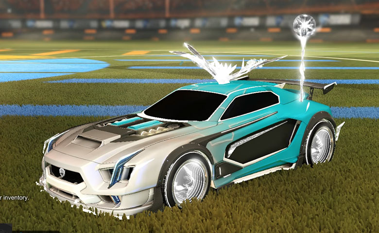 Rocket league Maverick GXT Titanium White design with Troublemaker IV,Mage Glass III,Mainframe