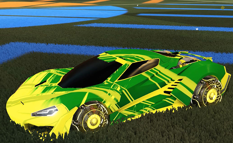 Rocket league Cyclone Saffron design with Ranjin,Slipstream