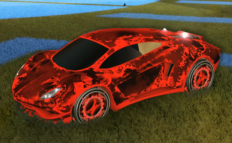 Rocket league Endo Crimson design with Sprocket,Fire God