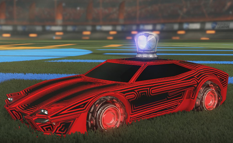 Rocket league Imperator DT5 Crimson design with Rocket Forge II,Labyrinth,Cherry Top