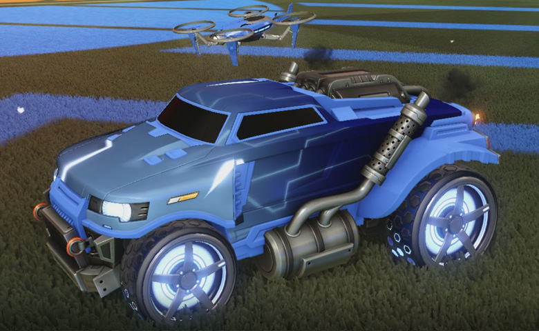 Rocket league Road Hog Cobalt design with Gripstride HX,Mainframe,Drone III
