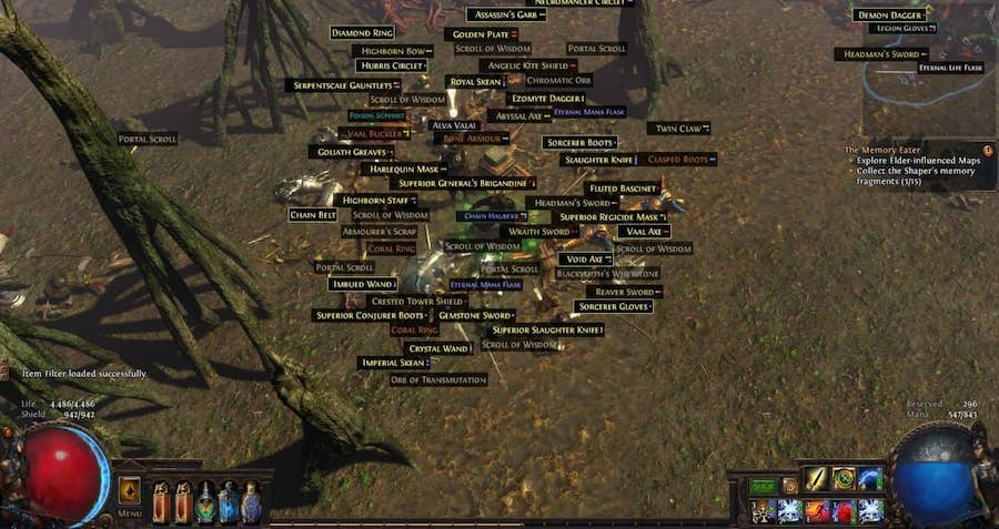 path of exile item filter