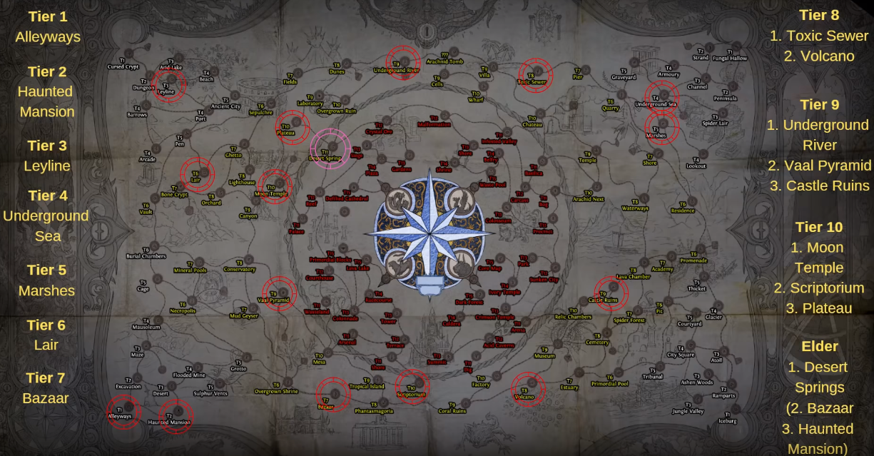 Path Of Exile 3 6 Synthesis Best Maps To Shape Poe Synthesis Atlas Shaping Strategy