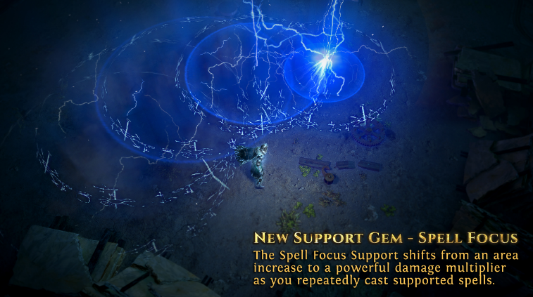 Path Of Exile New Support Gem - Spell Focus