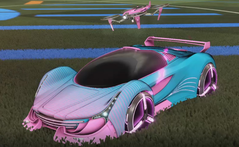 Rocket league Nimbus Pink design with Zowie,Future Shock,Drone III