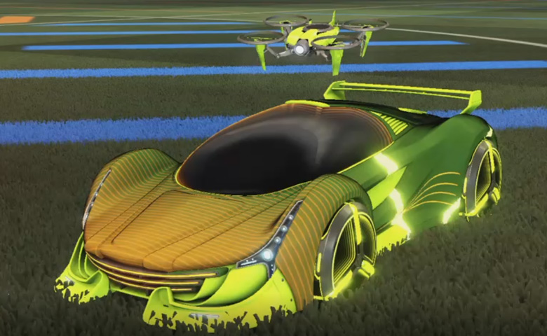 Rocket league Nimbus Lime design with Zowie,Future Shock,Drone III