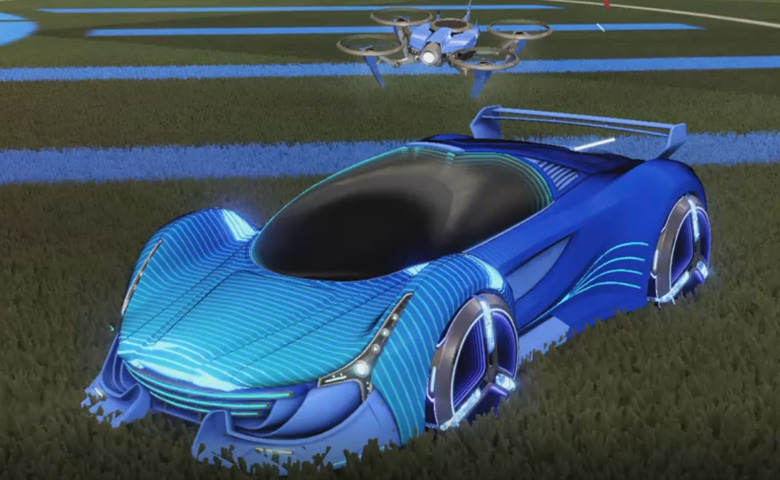 Rocket league Nimbus Cobalt design with Zowie,Future Shock,Drone III