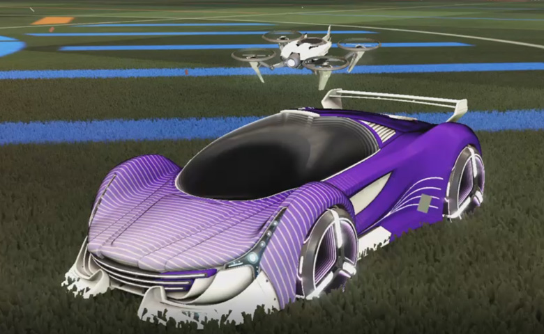 Rocket league Nimbus Titanium White design with Zowie,Future Shock,Drone III