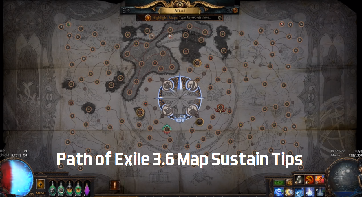 Path Of Exile 3 6 Map Sustain Guide - 5 Tips To Sustain Maps