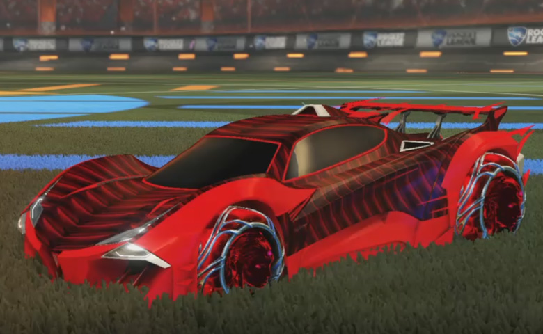 Rocket league Guardian GXT Crimson design with Ved-ava II,Intrudium