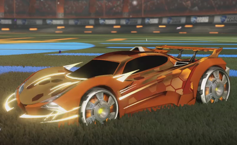 Rocket league Guardian GXT Burnt Sienna design with Generator II,Hex Tide