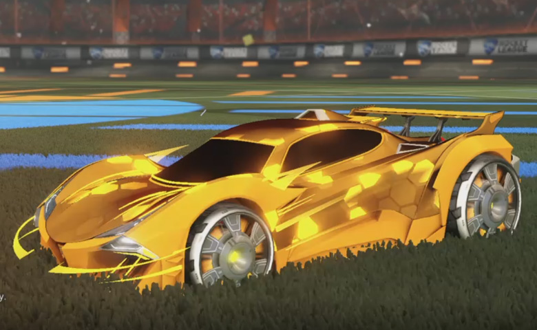 Rocket league Guardian GXT Orange design with Generator II,Hex Tide