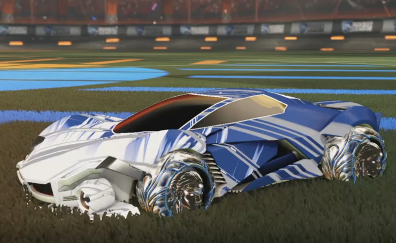 Rocket league Werewolf Titanium White design with Ved-ava II,Slipstream