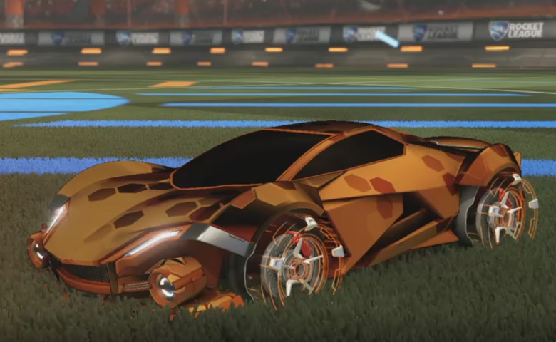Rocket league Werewolf Burnt Sienna design with Galvan,Hex Tide