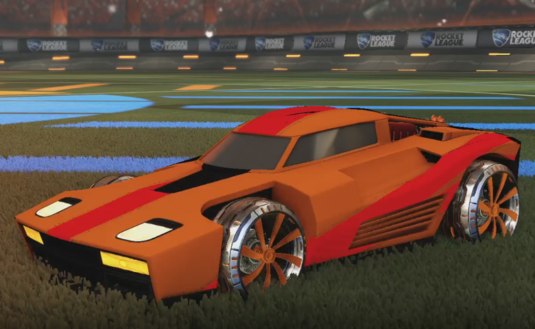 Rocket league Breakout Burnt Sienna design with Emerald,Burnt Sienna