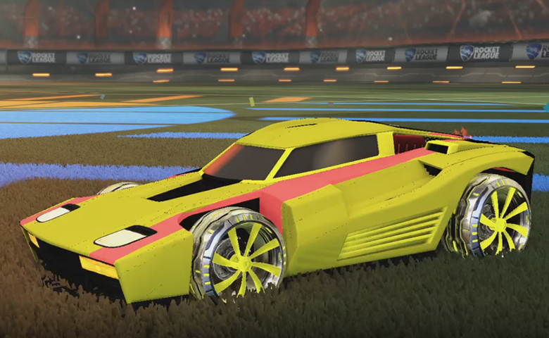 Rocket league Breakout Saffron design with Emerald,Mainliner