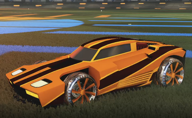 Rocket league Breakout Orange design with Emerald,Mainliner