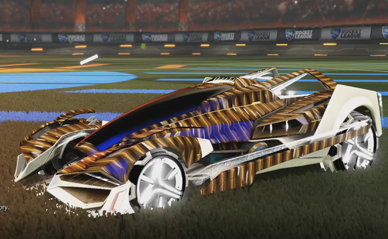 Rocket league Artemis GXT Titanium White design with Metalwork,Intrudium