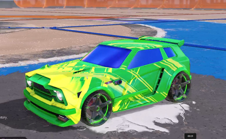 Rocket league Fennec Forest Green design with Stella,Slipstream