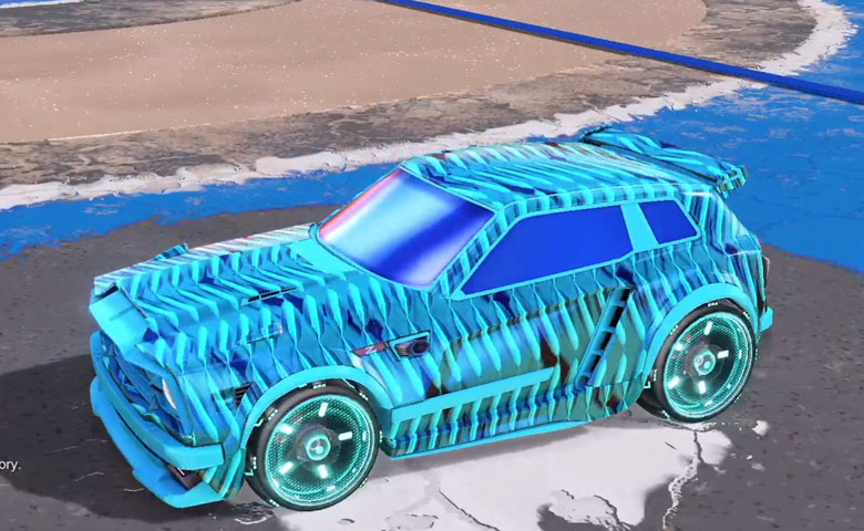 Rocket league Fennec Sky Blue design with Zefram,Intrudium