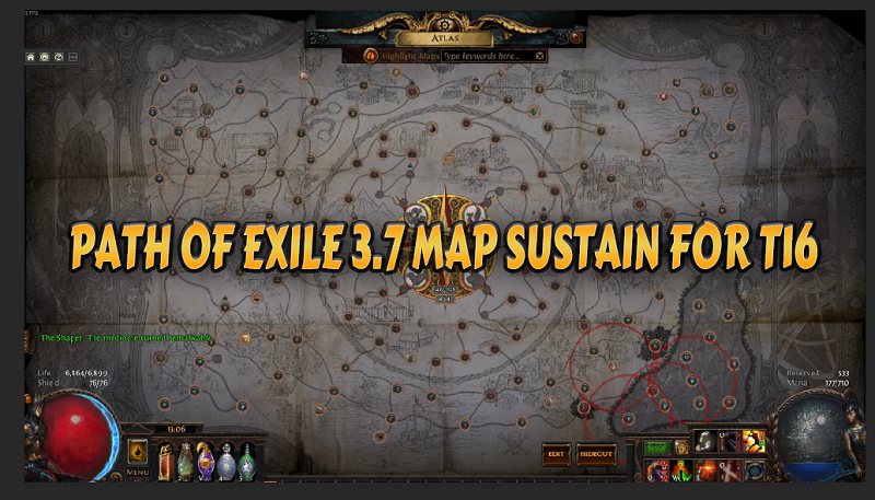 Path Of Exile 3 7 Map Sustain Guide - How To Easily Sustain
