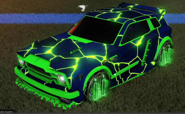 Rocket league Fennec Forest Green design with P-SIMM,Magma