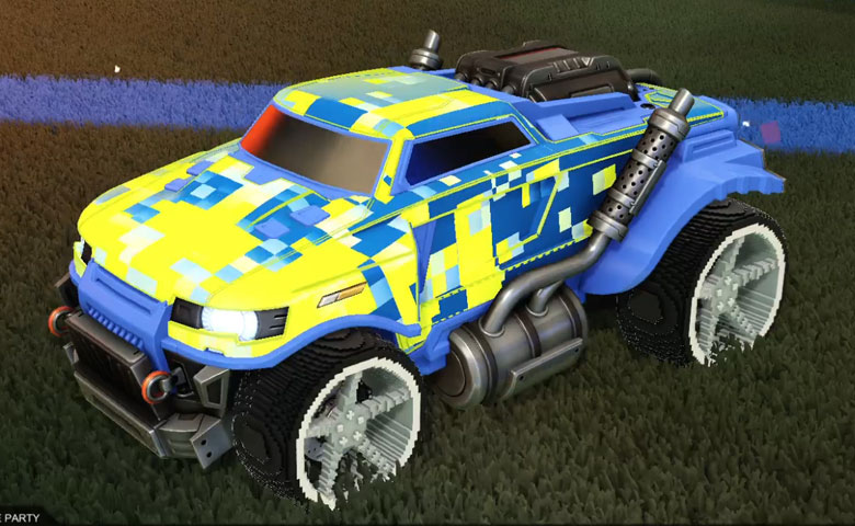 Rocket league Road Hog Cobalt design with Low-Poly,Parallax