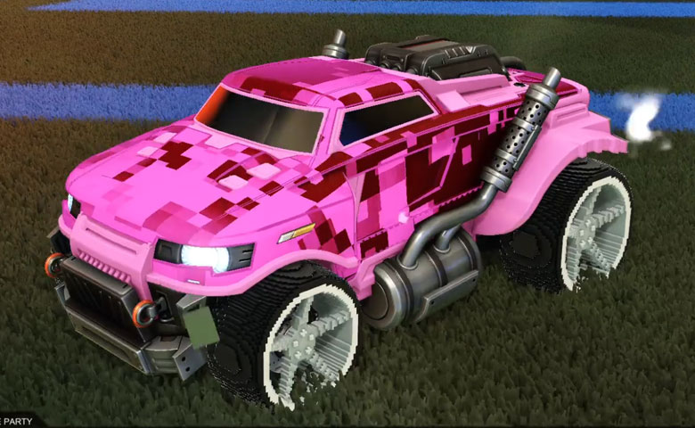 Rocket league Road Hog  Pink design with Low-Poly,Parallax