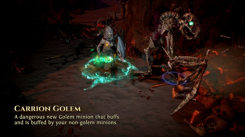 Path of Exile 3.8.0 Blight League - Necromancer Ascendancy - Carrion Golem