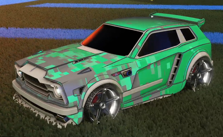 Rocket league Fennec Grey design with Stella,Parallax