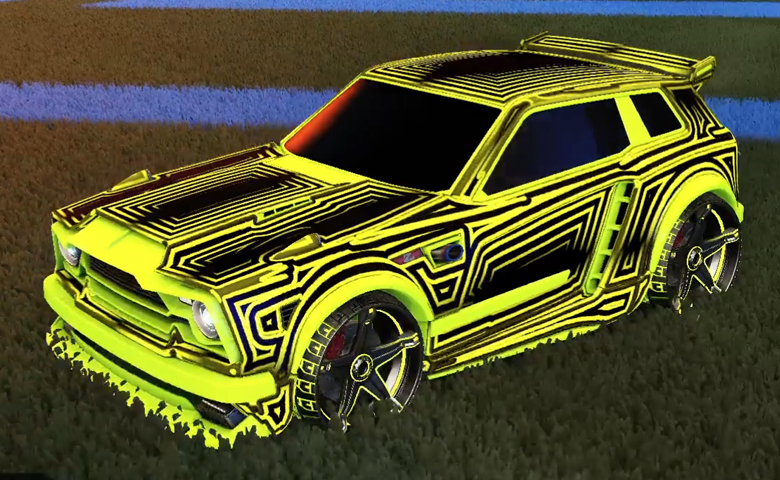 Rocket league Fennec Lime design with Stella,Labyrinth