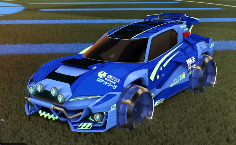 Rocket league Mudcat GXT  Cobalt design with Irradiator,Spectre
