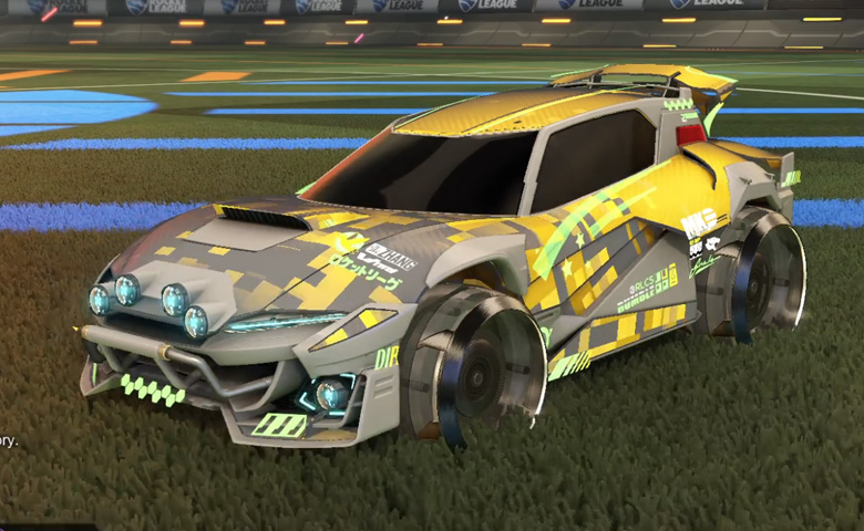 Rocket league Mudcat GXT Grey design with Irradiator,Parallax