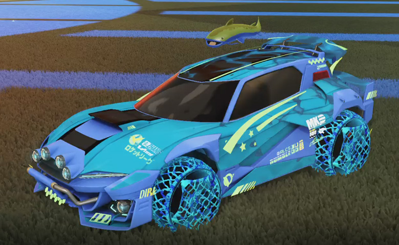 Rocket league Mudcat GXT Cobalt design with Camo,Spectre