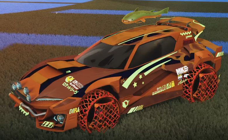 Rocket league Mudcat GXT Burnt Sienna design with Camo,Spectre