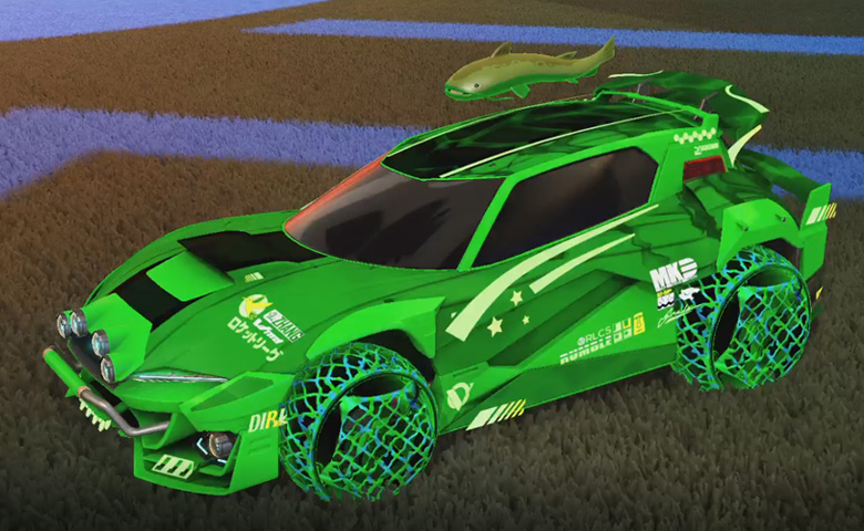 Rocket league Mudcat GXT Forest Green design with Camo,Spectre