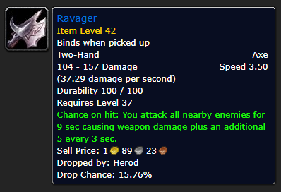 Best Overpowered Classic WoW Items At Low Level - Ravager