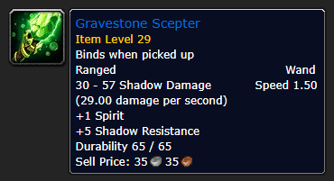 Best Overpowered Classic WoW Items At Low Level - Gravestone Scepter