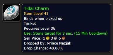 Best Overpowered Classic WoW Items At Low Level - Tidal Charm