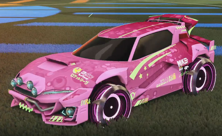 Rocket league Mudcat GXT Pink design with Irradiator,Bubbly