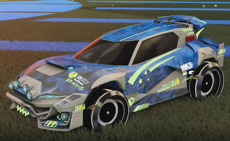 Rocket league Mudcat GXT Grey design with  wheels:Grey ,Dissolver