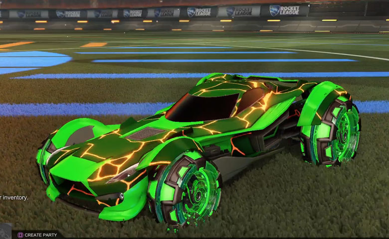 Rocket league Sentinel Forest Green design with NeYoYo,Magma